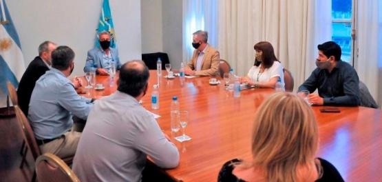 Trabajan con el Gabinete por soluciones para Chubut