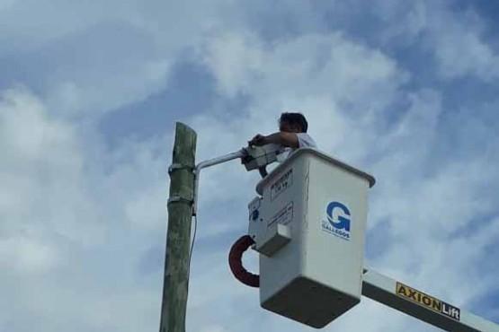 Río Gallegos| Avanzan las tareas de iluminación en el barrio San Benito
