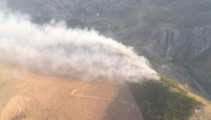 Chubut  Incendio forestal entre El Maitén y Ñorquinco