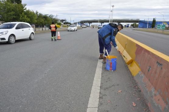 Río Gallegos| Trabajos de mantenimiento y reacondicionamiento en la ciudad