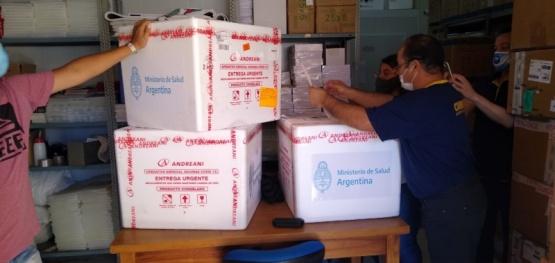 Llegó a Chubut el segundo lote de vacunas contra el COVID-19