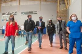 Río Gallegos   Recorrida y simulacro en el centro de vacunación del 17 de octubre