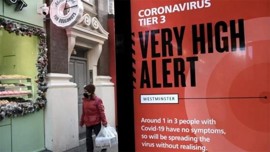 La cepa británica del coronavirus se expandió a 60 países, según la OMS