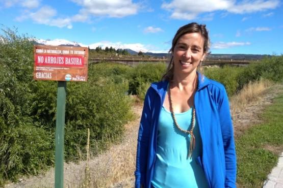 Ana Webb, bióloga e integrante de Voluntarios del Río Percy en Trevelin