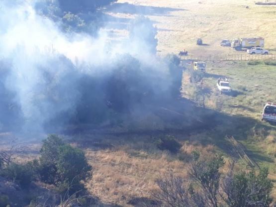Aldea Escolar| Brigadistas controlaron incendio en basural