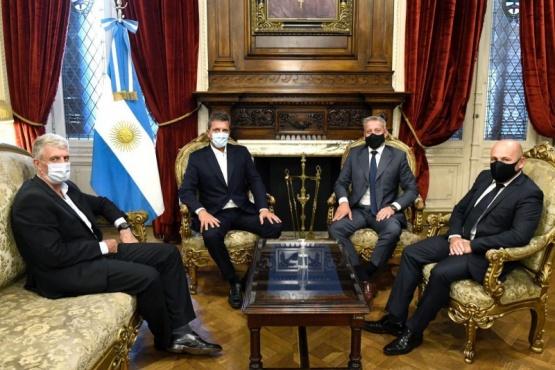 Chubut| Massa brindó su apoyo a la gestión de Arcioni