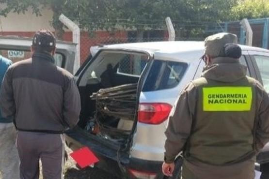 Gendarería Nacional detuvo a los maleantes.