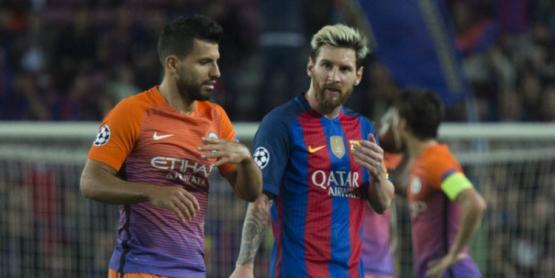 El Kun y Messi.