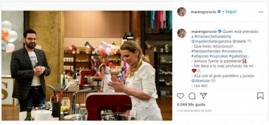 Rocío Marengo apuntó contra la producción de Masterchef Celebrity