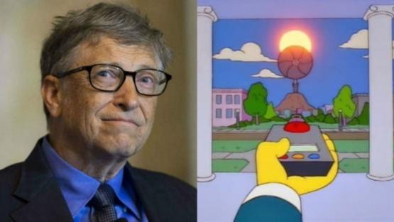 Como el Sr. Burns, Bil Gates quiere tapar el sol