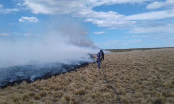 Río Gallegos| Grave incendio sobre pastizales