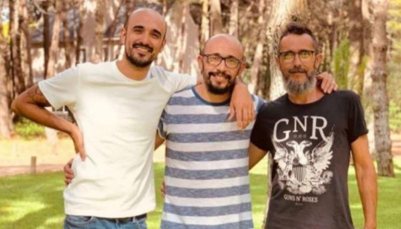 Abel Pintos y sus hermanos.
