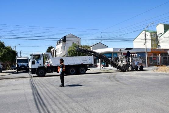 Río Gallegos  Intensa actividad de Obras Públicas durante el fin de semana