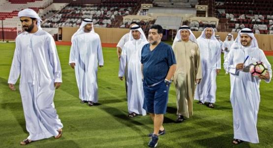 Diego Maradona en Dubai.