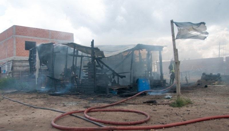 Imagen del incendio, ocurrido hace pocos días.