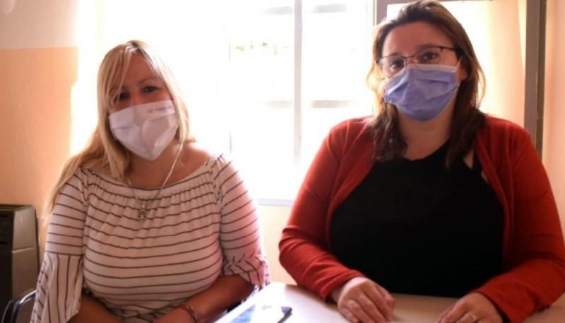 Celeste Ludueña e Iris Casas del área de Desarrollo Social.