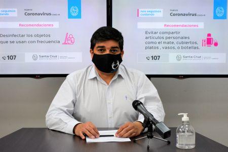 """García: """"Todas las localidades de Santa Cruz definieron donde se realizará el proceso vacunatorio"""""""