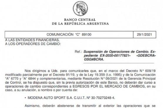 Banco Central suspendió a 9 importadores que no vendieron los bienes en el mercado local