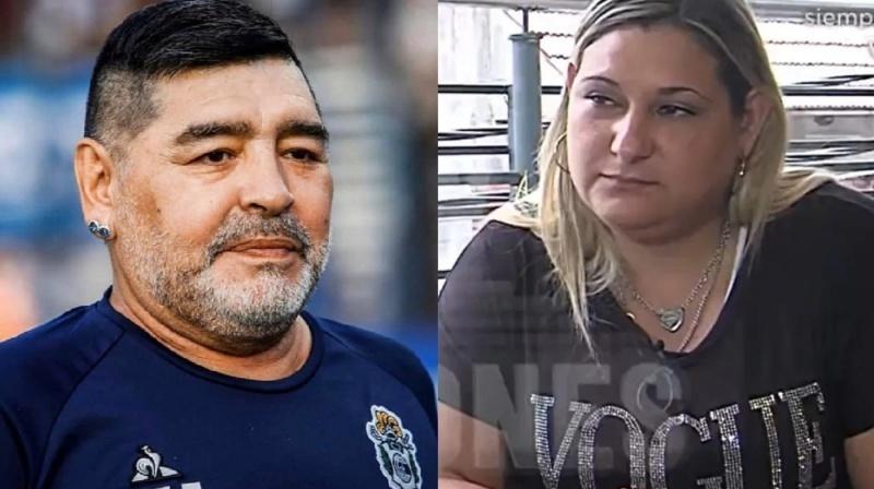 Diego Maradona y la empleada de confianza.