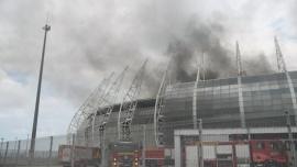 Se incendió una de las sedes del Mundial Brasil 2014