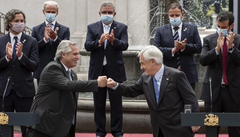 Alberto Fernández y Sebastián Piñera.