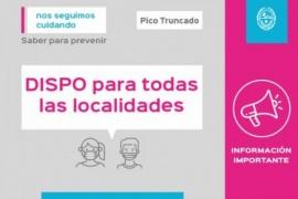 La provincia de Santa Cruz continúa en DISPO hasta el 28 de febrero