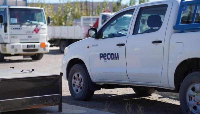 Camioneta de Pecom.