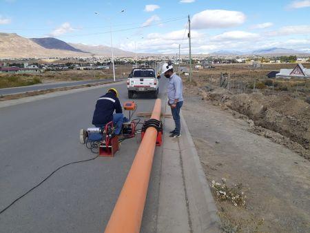 Obras en El Calafate.