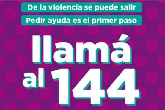 Si sos víctima de violencia de género comunicate al 144.