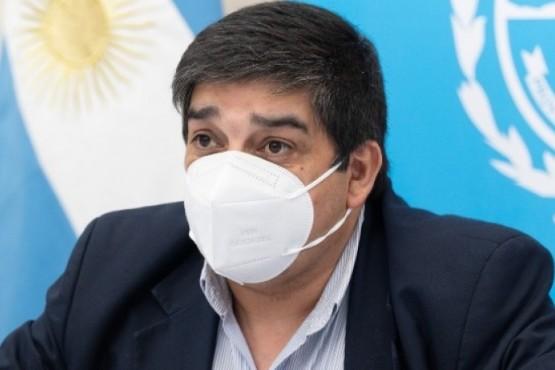 Claudio García, ministro de salud de Santa Cruz.
