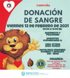 Charla informativa para donantes de sangre