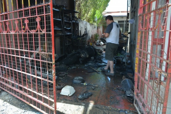 Incendio en garaje (C.R)
