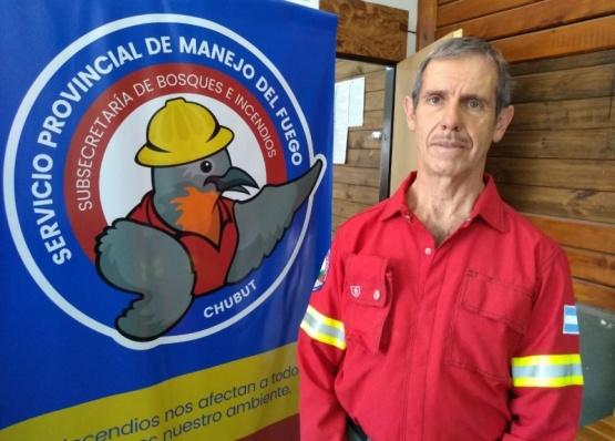 El jefe del Servicio Provincial de Manejo del Fuego.