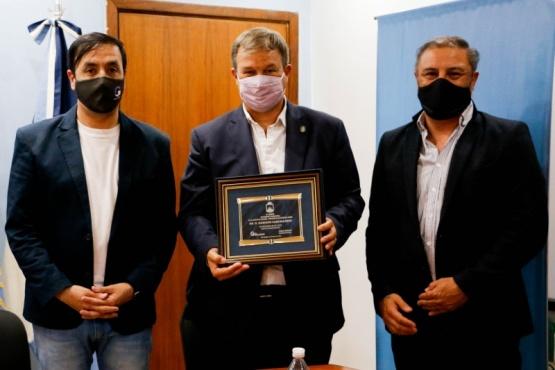 Pablo Grasso recibió la visita Mariano Cascallares, Intendente de Almirante Brown
