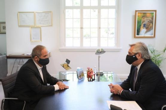 Alberto Fernández se reunió con Sergio Palazzo