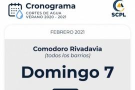 Corte de agua en Comodoro Rivadavia para reforzar la recuperación de reservas