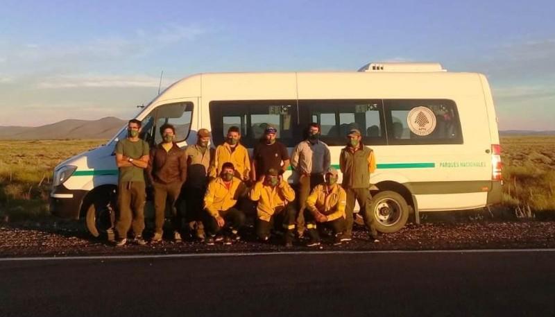 Brigadistas del Parque Nacional Los Glaciares (Fuente: Ahora Calafate)