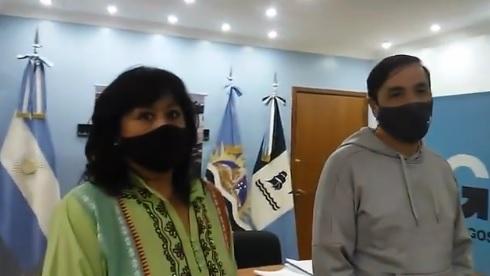 El intendente junto a la diputada provincial.