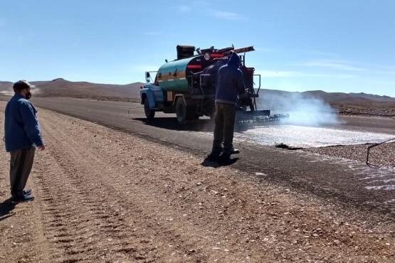 Vialidad Provincial continúa con la pavimentación de la Ruta Nº 63 entre El Molle y José de San Martín