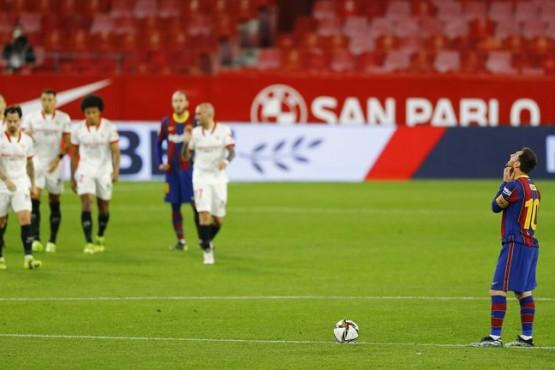 Barcelona cayó ante el Sevilla en la ida de la Copa del Rey