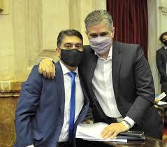 Jorge Verón junto a Pablo González.
