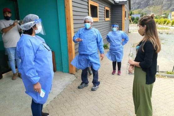 Simulacro de vacunación contra el COVID-19 en El Chaltén