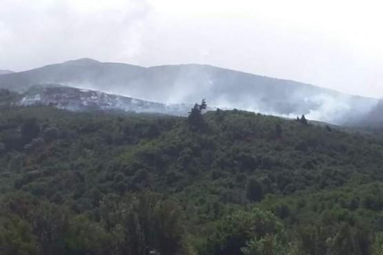 Incendio en Cuesta del Ternero: el Ejército de Río Negro fue convocado por cuestiones logísticas