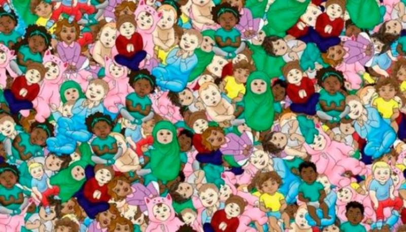 Test visual: encontrar al bebé dormido en la imagen