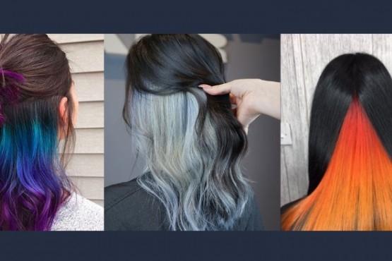 Under-Dye: un modo de teñirse el pelo con colores vibrantes y aún así pasar desapercibido