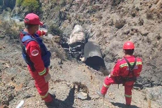 El camión argentino que explotó en Bolivia.