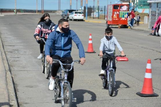 Con gran participación se desarrolló el Circuito Deportivo en la Costanera de Río Gallegos