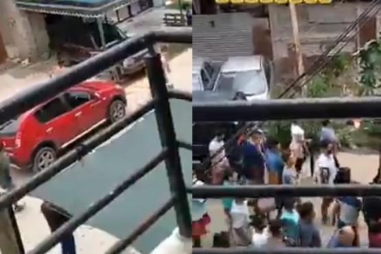 Vecinos hartos de la inseguridad detuvieron a tres ladrones y los desnudaron