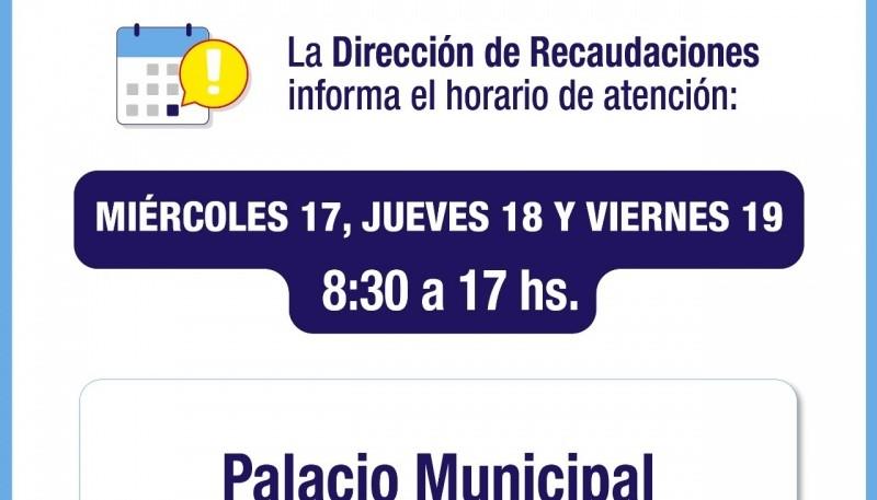 Esta semana la Dirección de Recaudaciones de Río Gallegos atenderá hasta las 17