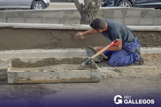 Obra Pública: continúa el mantenimiento en la avenida San Martín